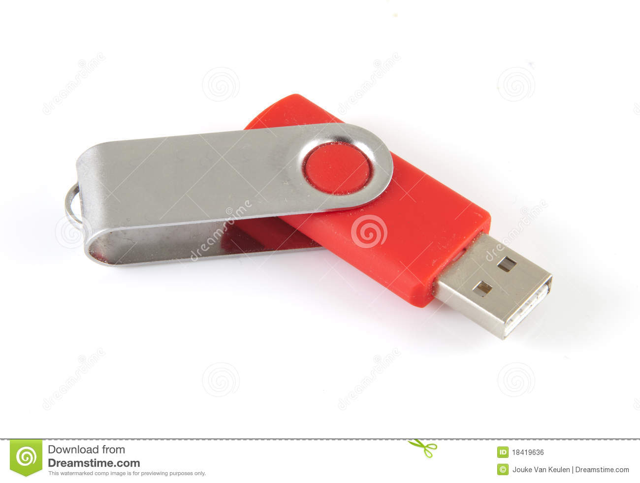 Red Usb Stick Royalty Free Stock Image Image 18419636