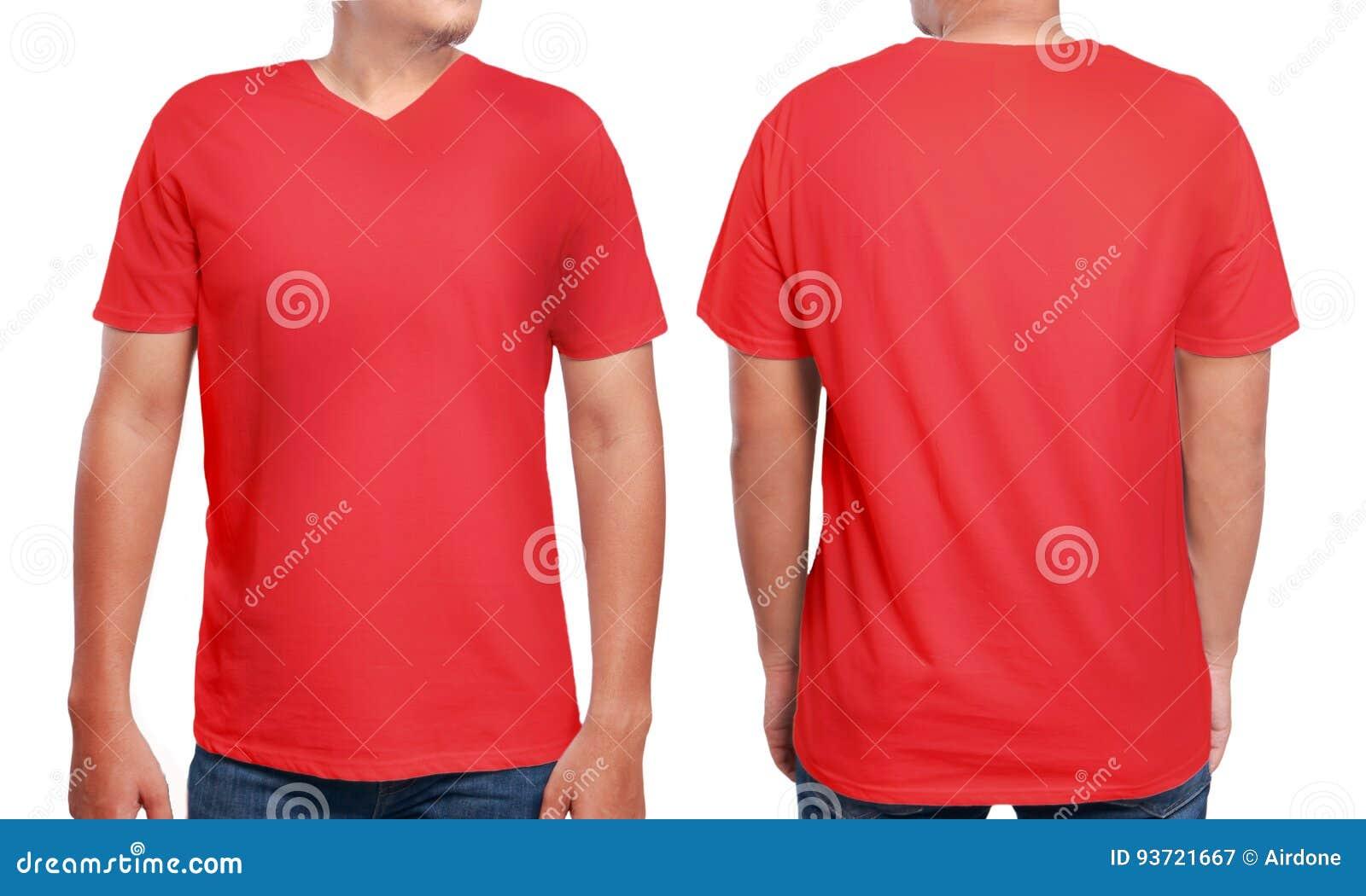 red v neck shirt design template stock image image of clothing standing 93721667. Black Bedroom Furniture Sets. Home Design Ideas