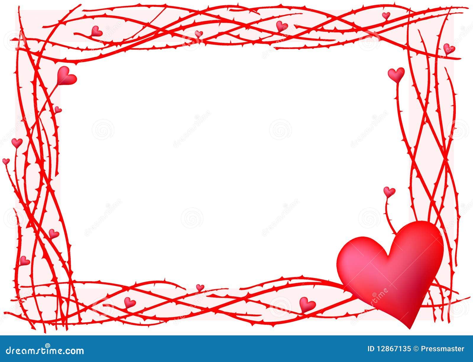 Red valentine frame stock illustration. Illustration of background ...