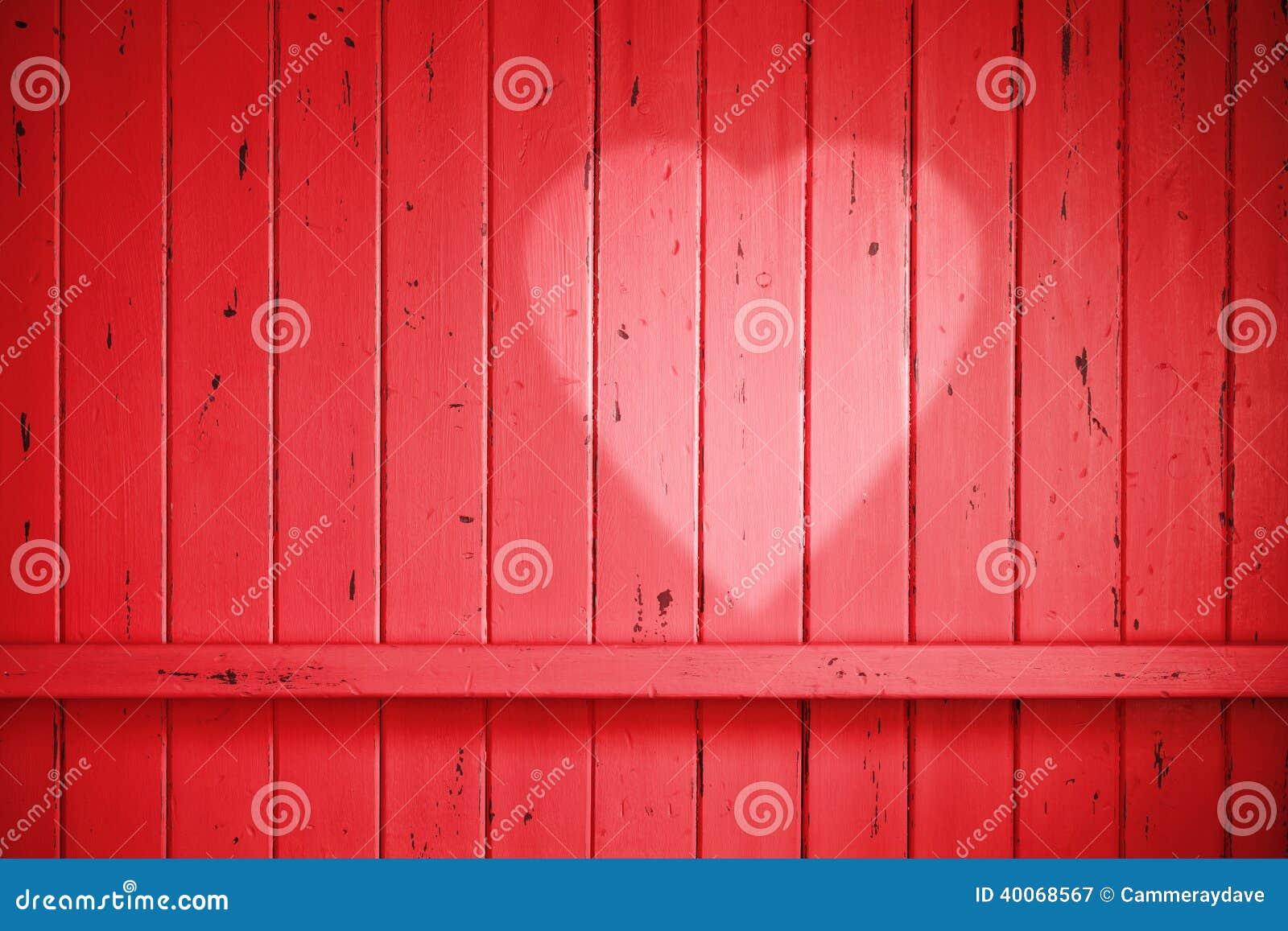 Red Love Valentine Heart Background