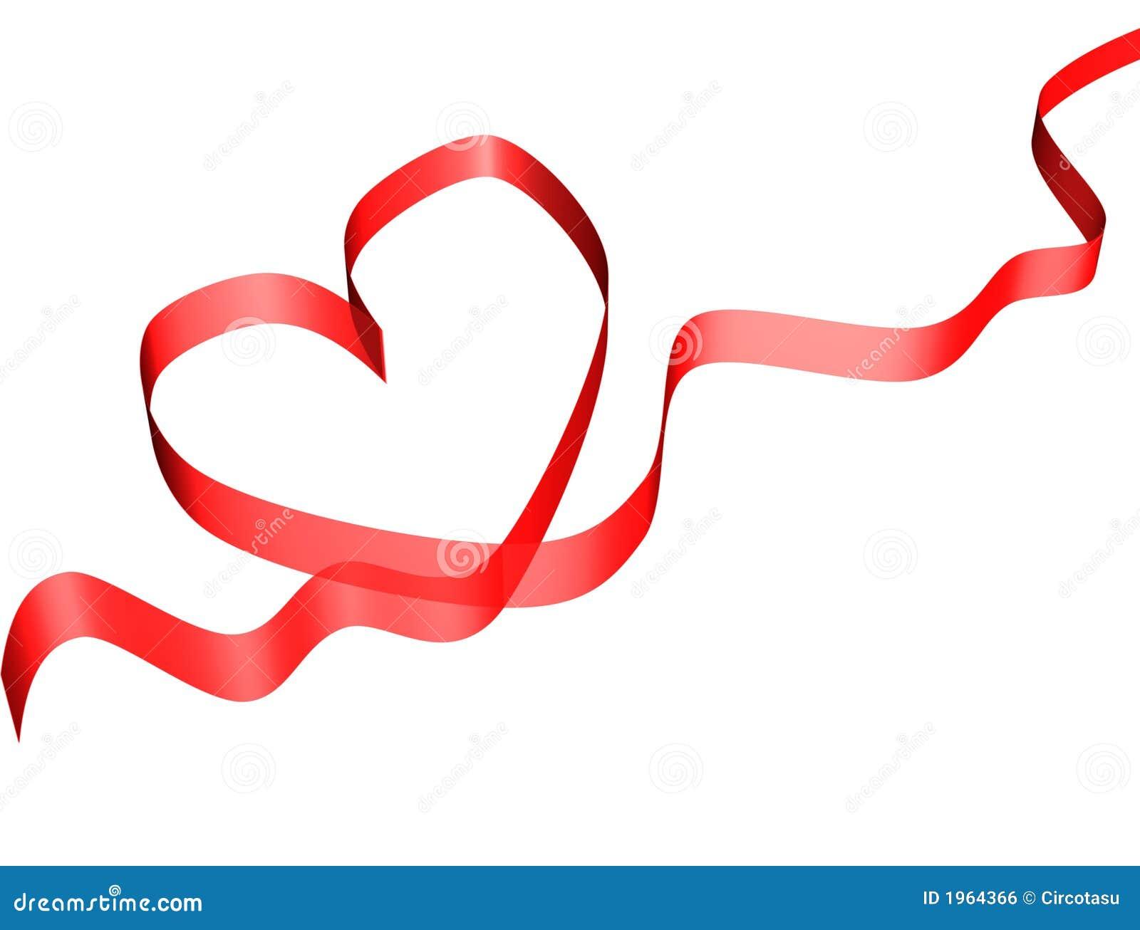 red valentine ribbon card - Valentine Ribbon