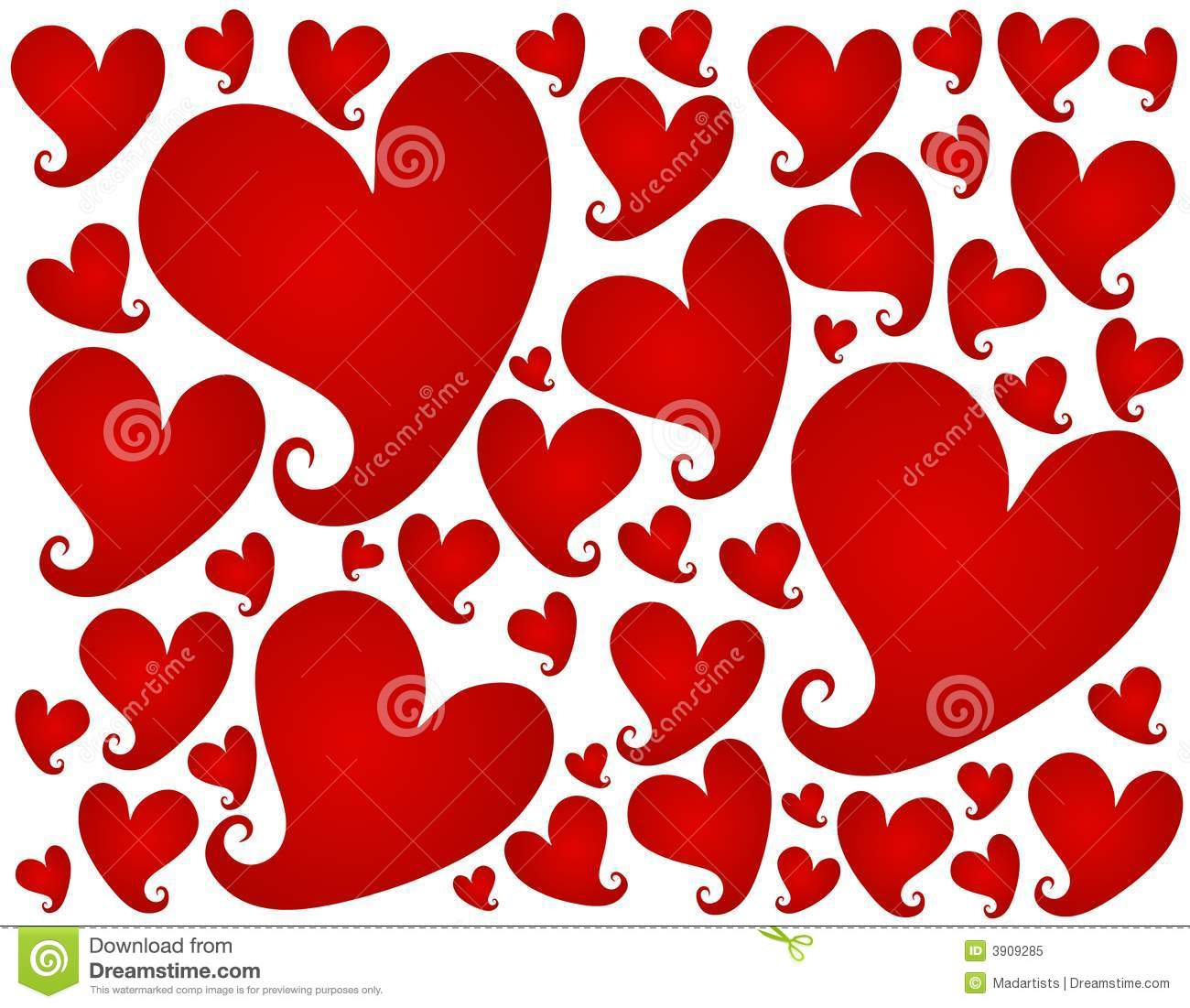 Red Valentine S Day Hearts Background Pattern Stock Illustration