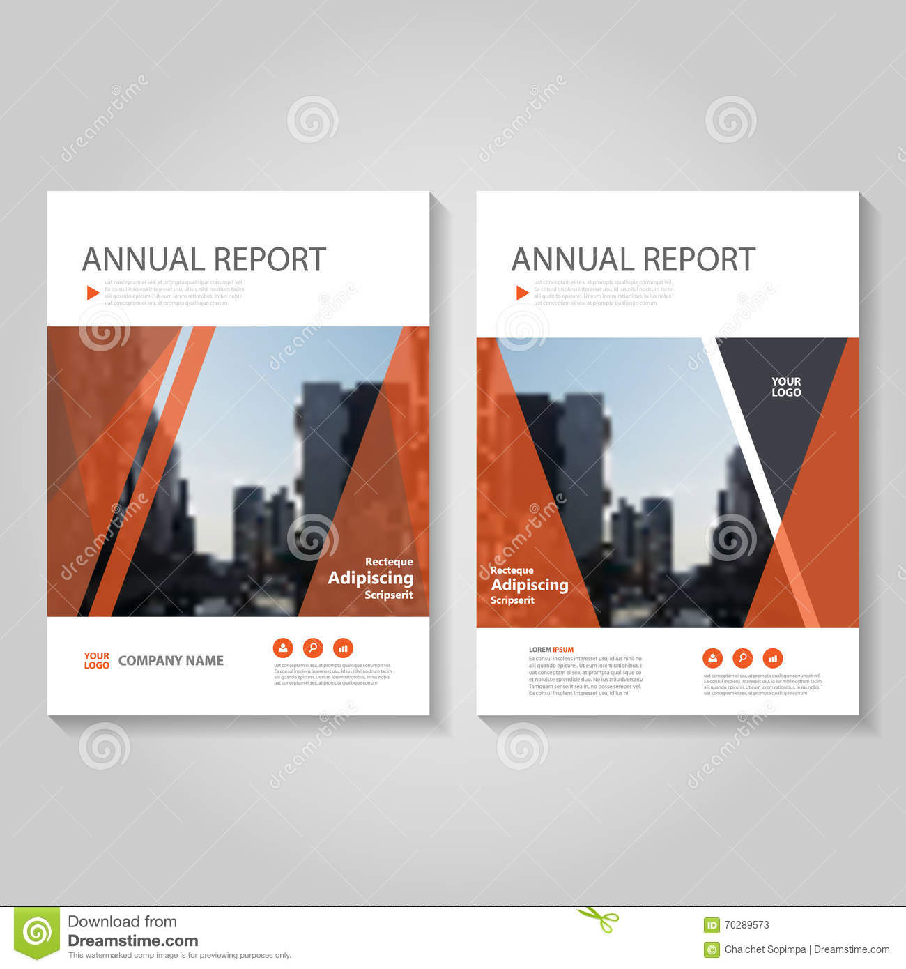 Red Book Cover Design : Templates for square brochure leaflet cover presentation