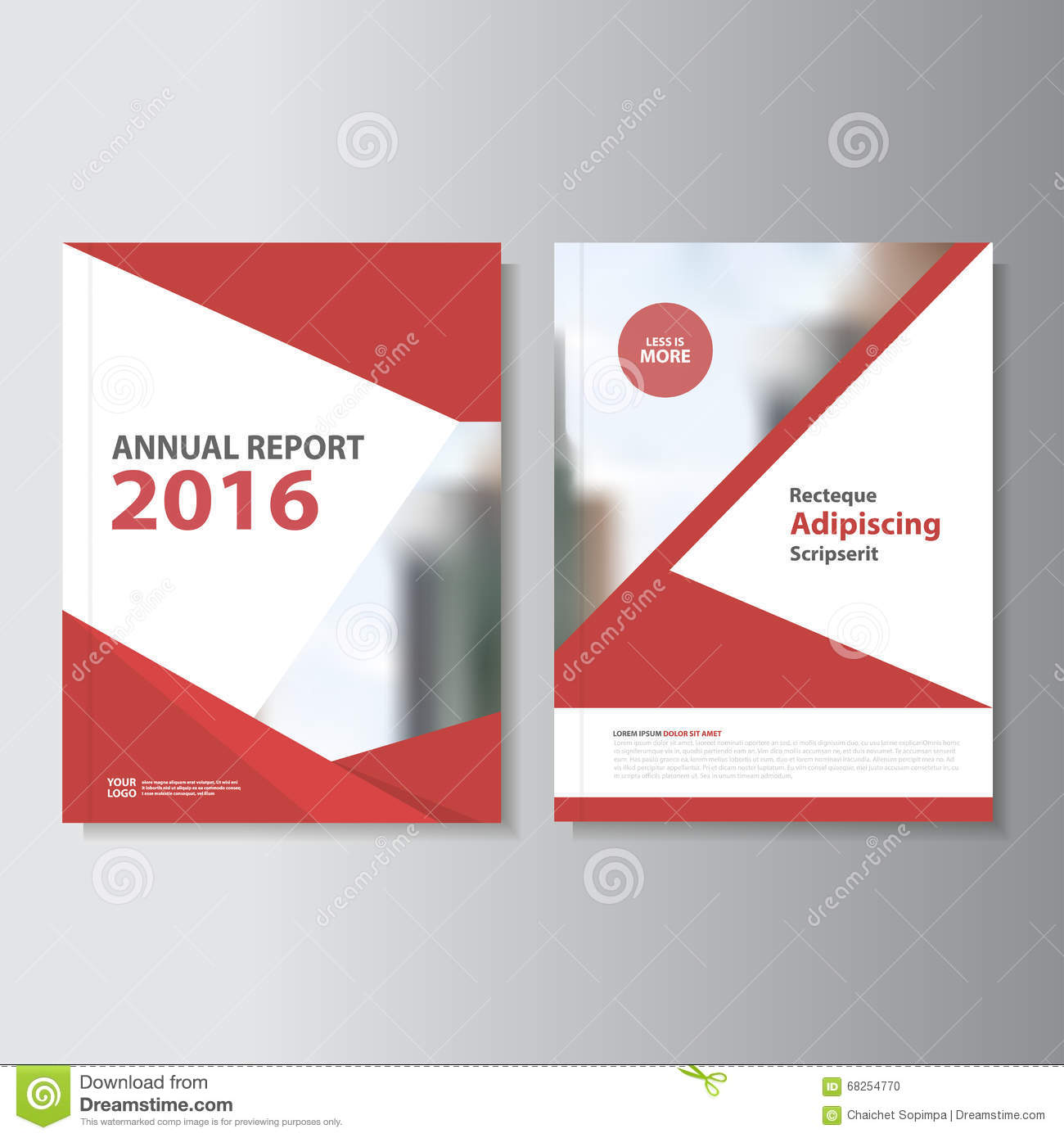 Best Book Cover Design Company : Red vector annual report leaflet brochure flyer template