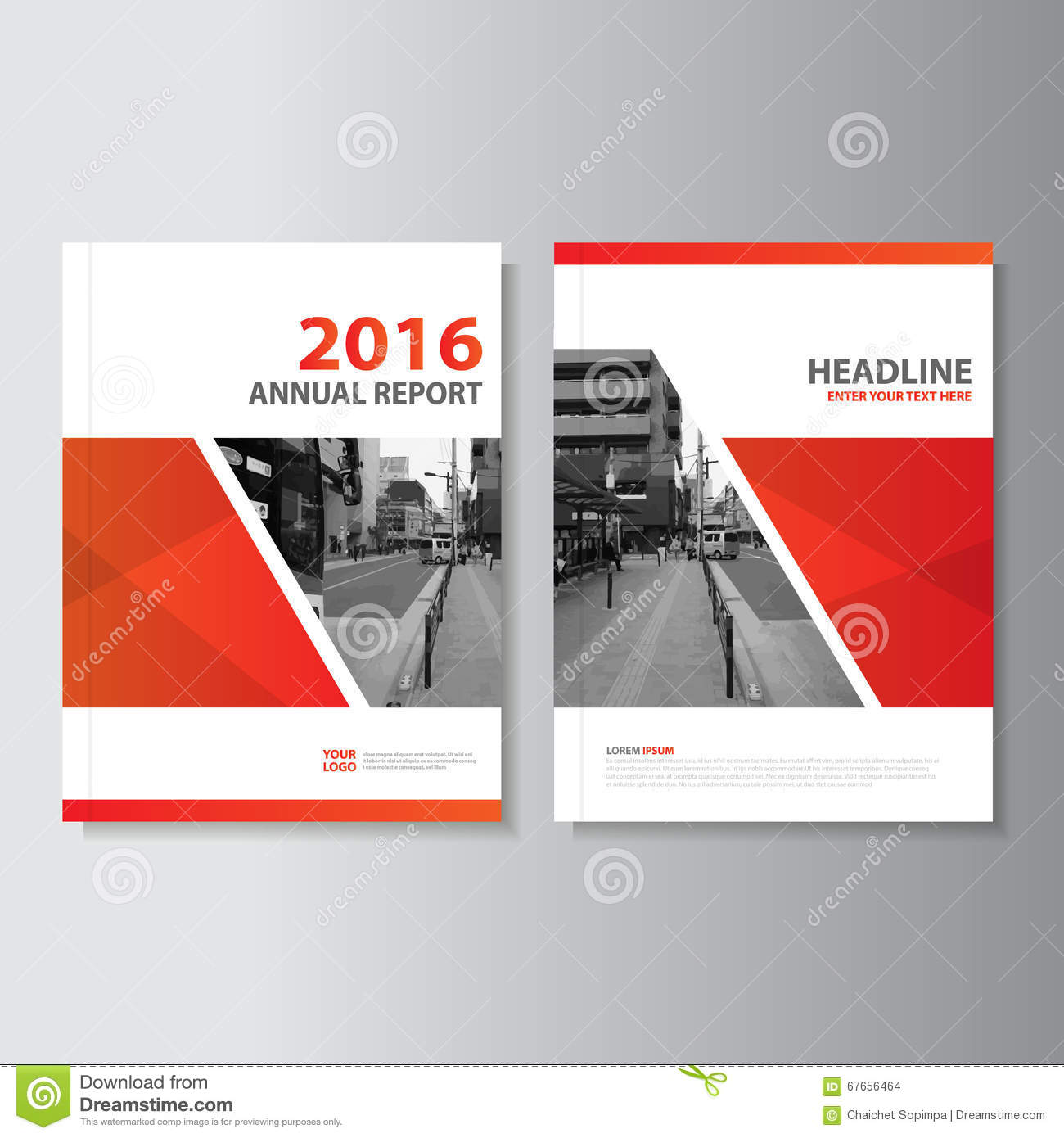 Book Cover Layout ~ Red vector annual report magazine leaflet brochure flyer
