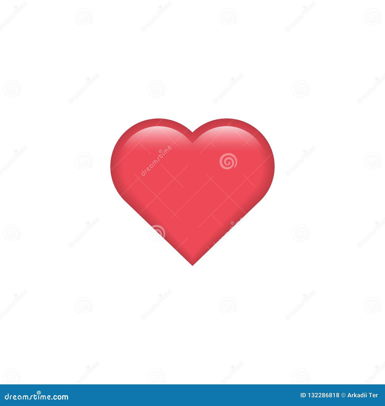 Red Vector Heart Icon. Heart Emoji. Heart Sticker. Love