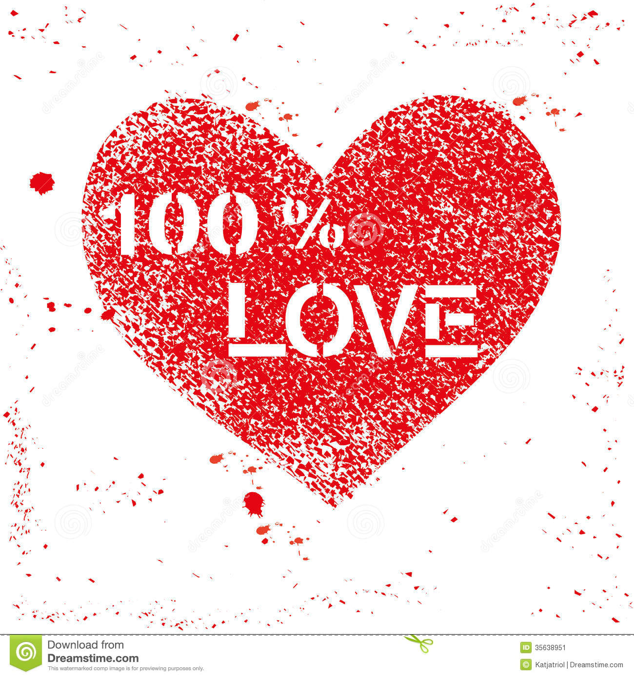 red vector sprayed heart with text stock vector illustration of
