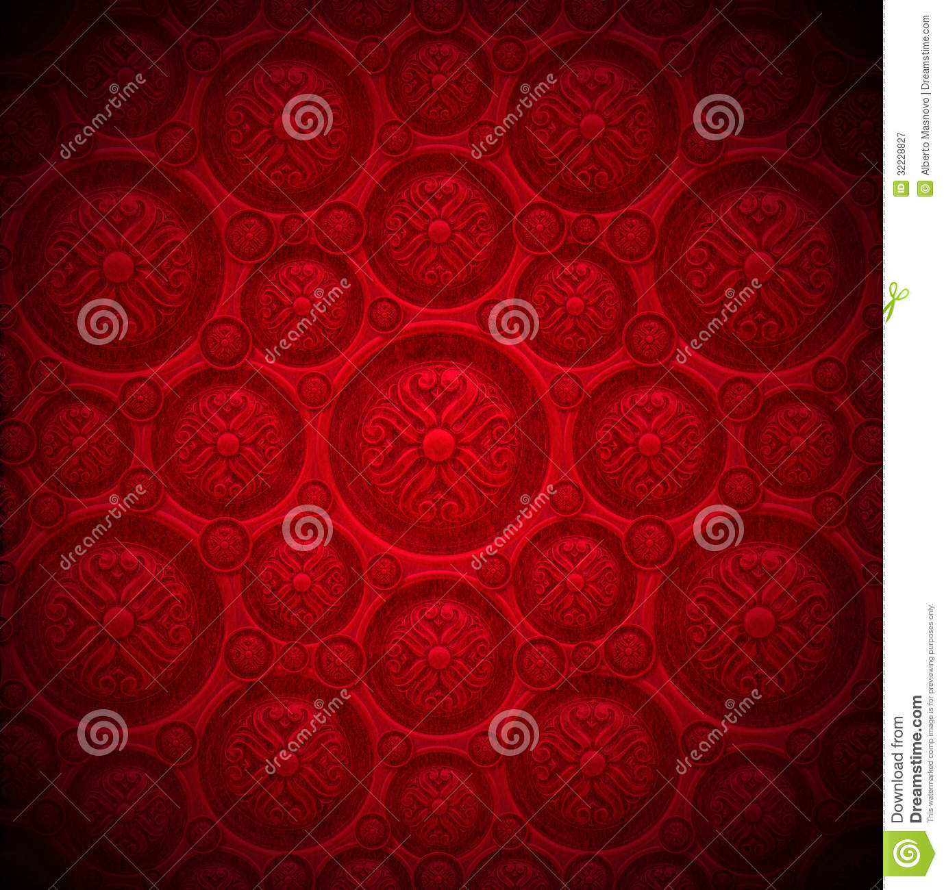 Red Velvet Background With Classic Ornament Royalty Free Stock ...
