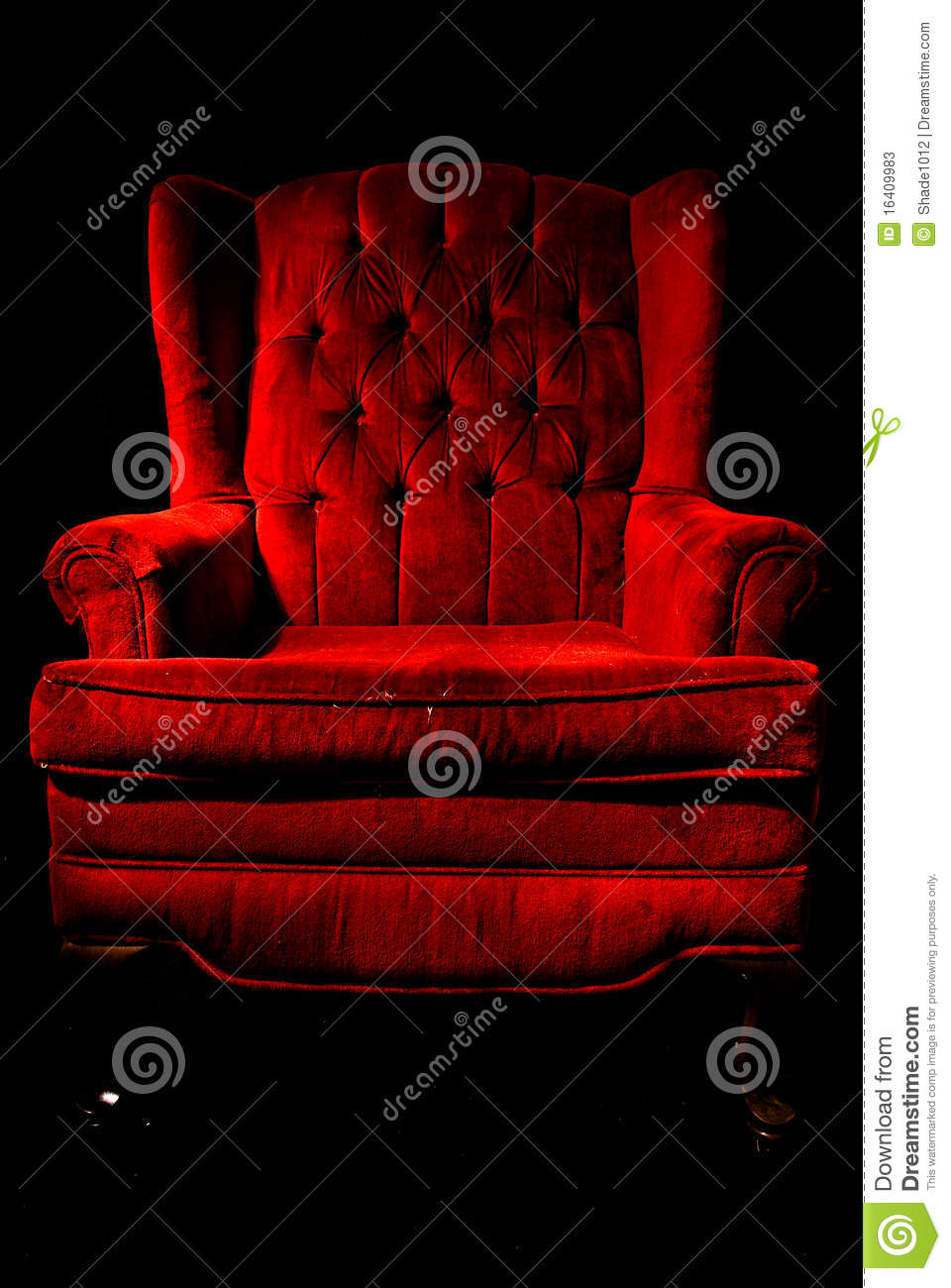 Download Red Velvet Chair Stock Image. Image Of Chair, Black, Classic    16409983