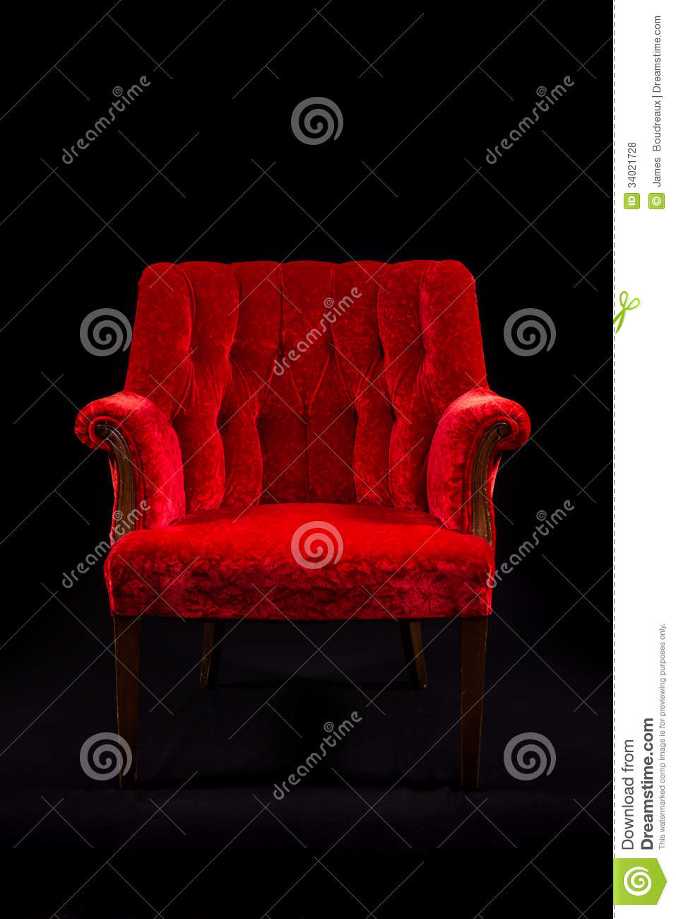 Red velvet chair - Royalty Free Stock Photo Download Red Velvet Chair