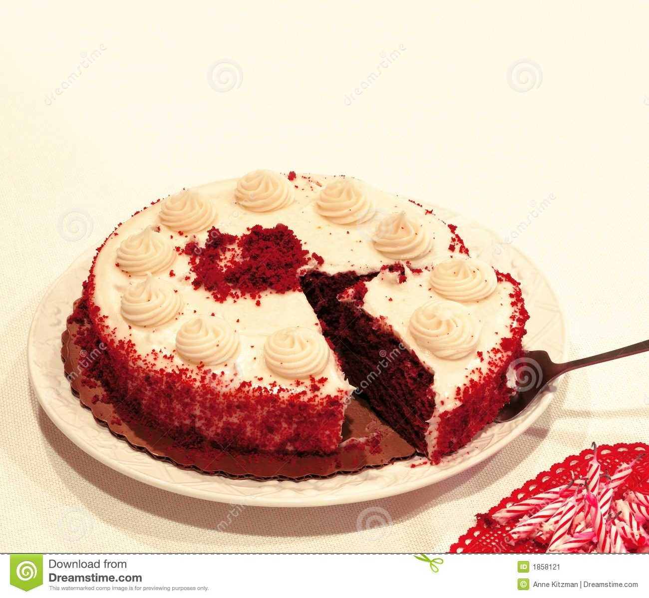 Red Velvet Chocolate Cake - Close-up of a red velvet chocolate cake ...