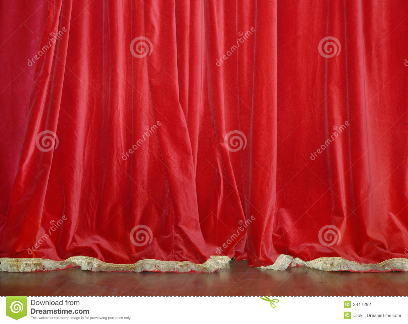 Red Velvet Curtains Stock Photography - Image: 2417292