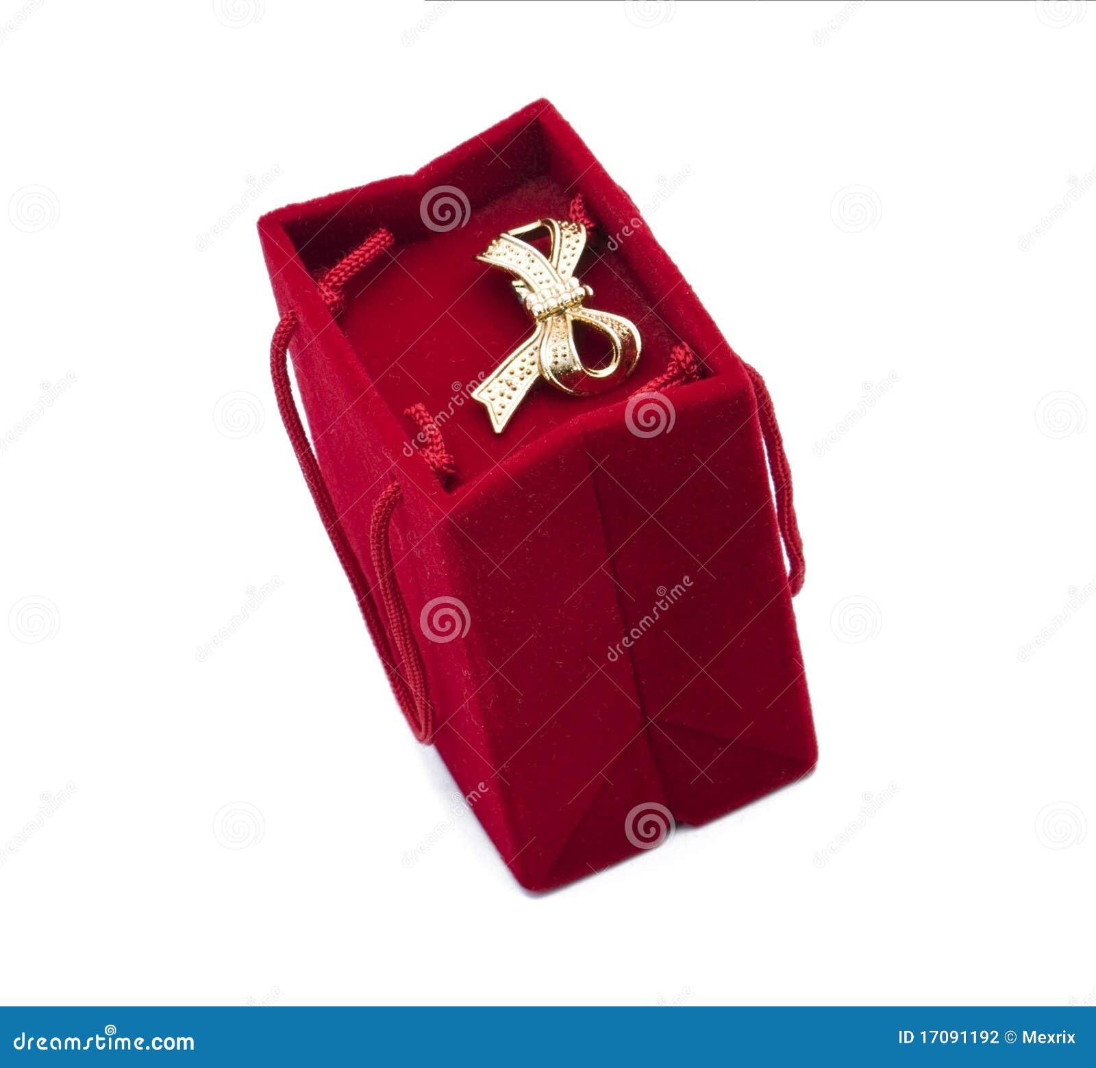Red velvet gift box stock photography image 17091192 for Red velvet jewelry gift boxes