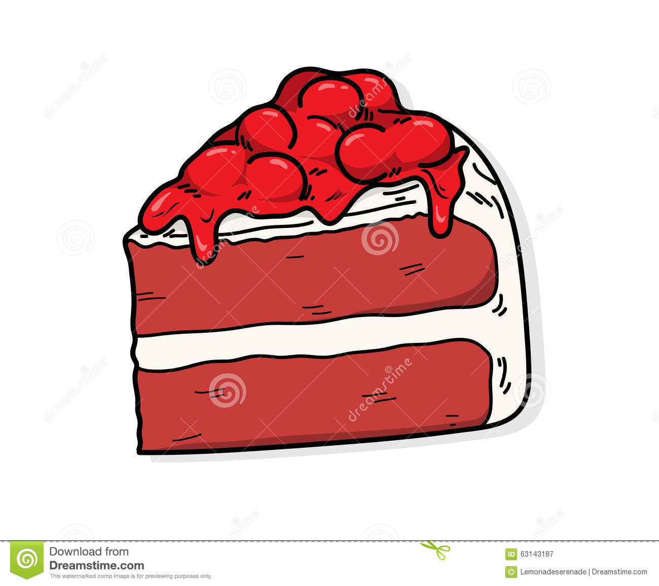 Red Cake Clipart : Red Velvet Stock Vector - Image: 63143187