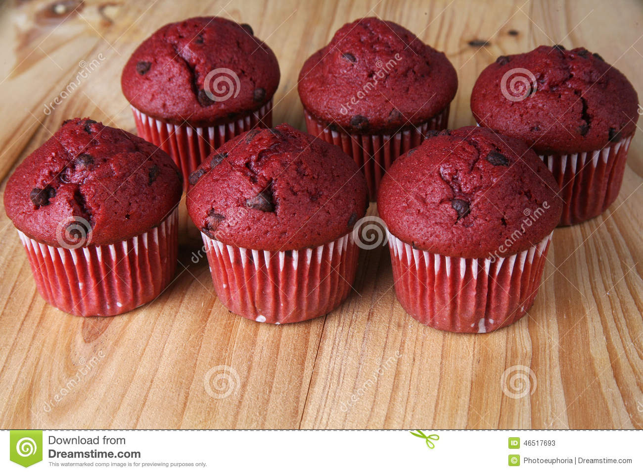Red Velvet Muffins Stock Photo - Image: 46517693