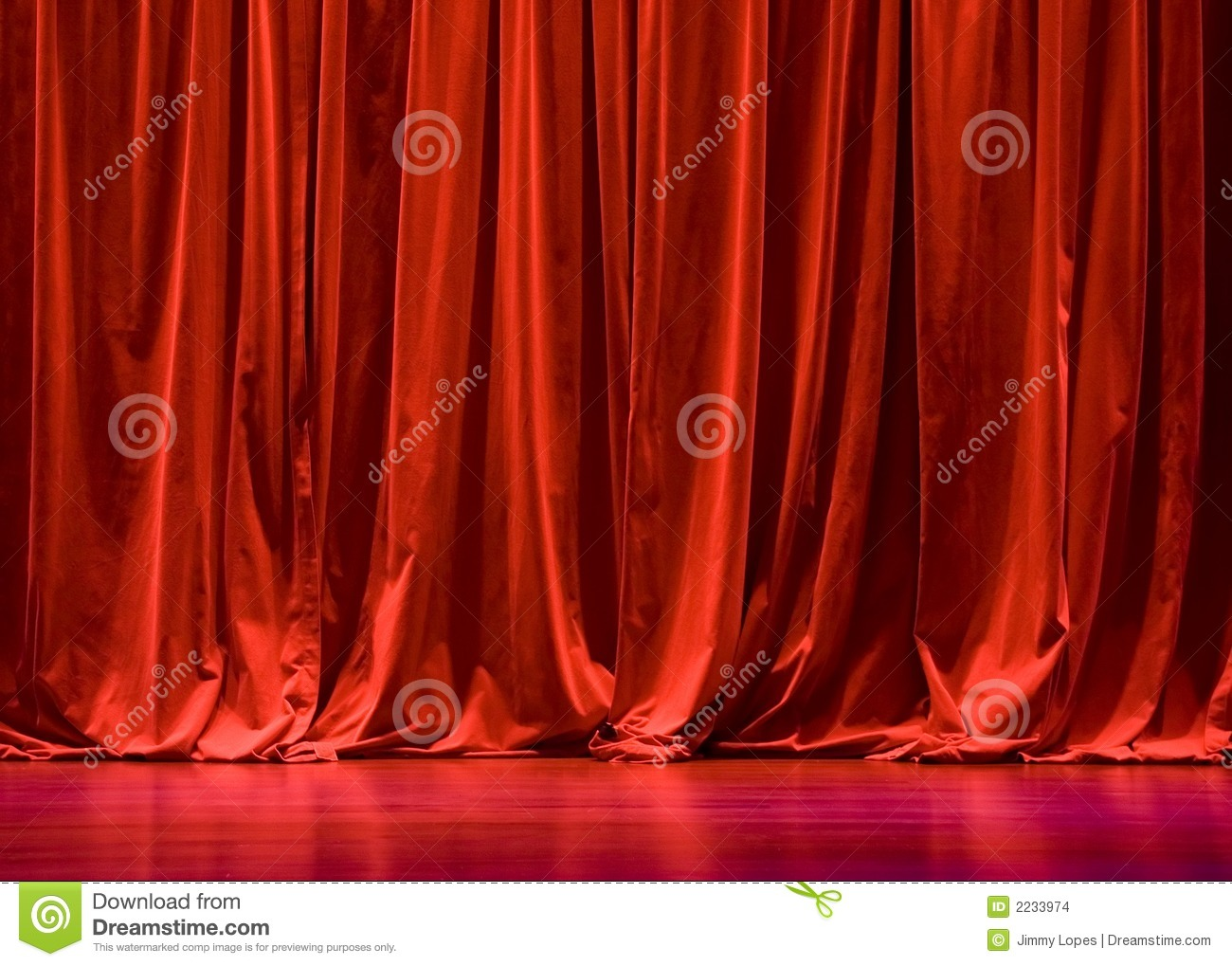 Red Velvet Stage Curtains Stock Images - Image: 2233974
