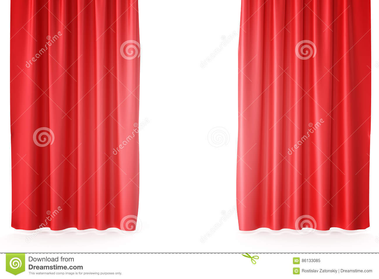 Red velvet curtains stage - Red Velvet Stage Curtains Scarlet Theatre Drapery Silk Classical Curtains Red Theater Curtain