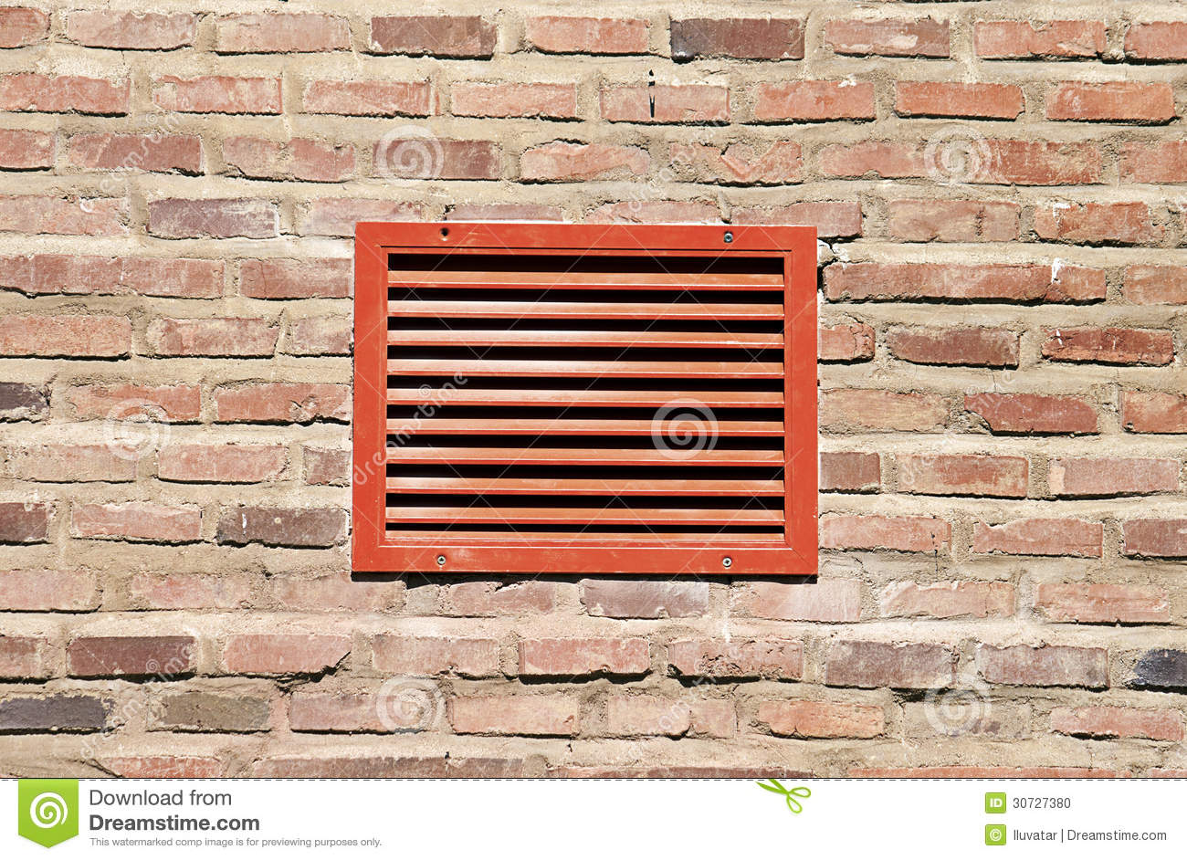 Red Ventilation Grill Stock Photo Image 30727380