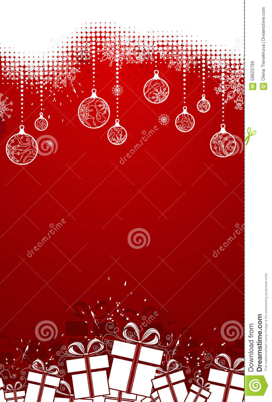 Red vertical Christmas stock vector. Image of christmas ...