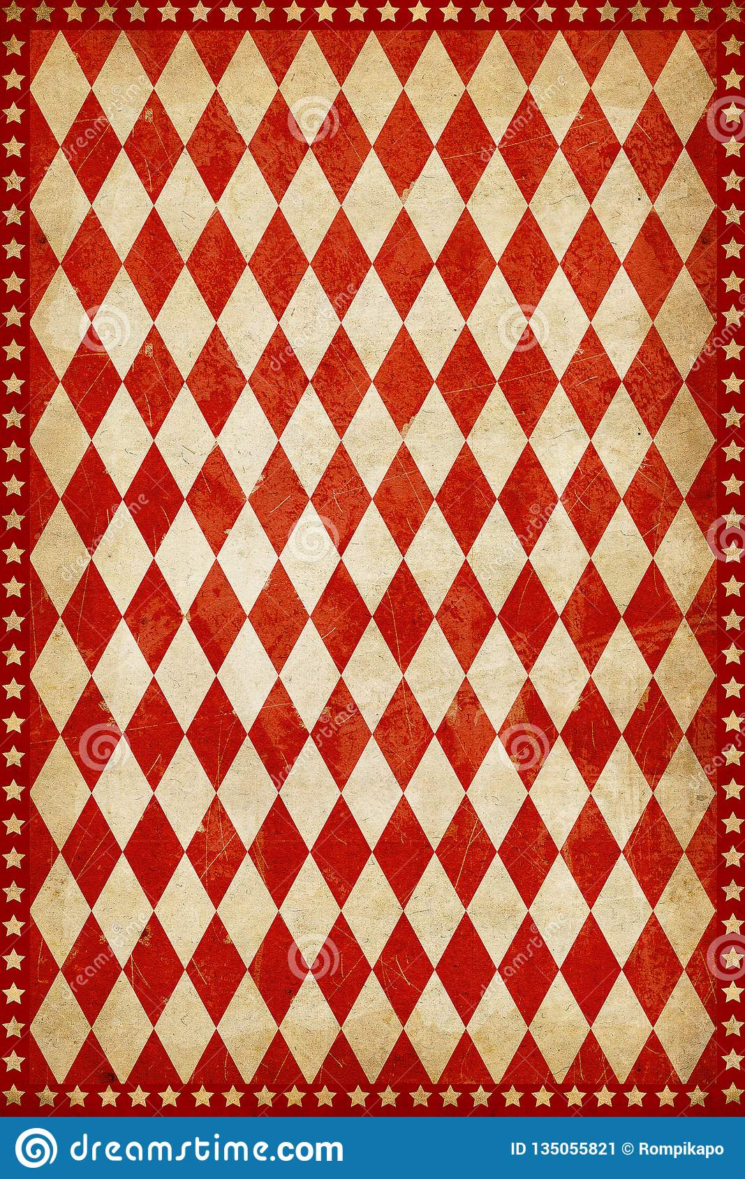 Red Vintage Circus Poster Background Stock Illustration ...