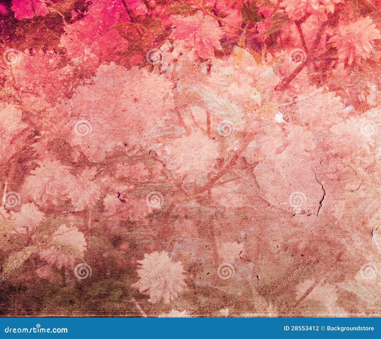 Red Vintage Flower Texture