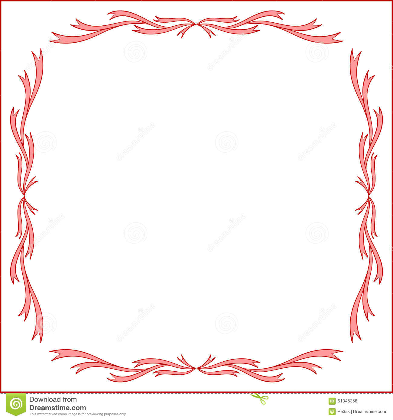 Red Vintage Frame Design For Greeting Card Stock Vector