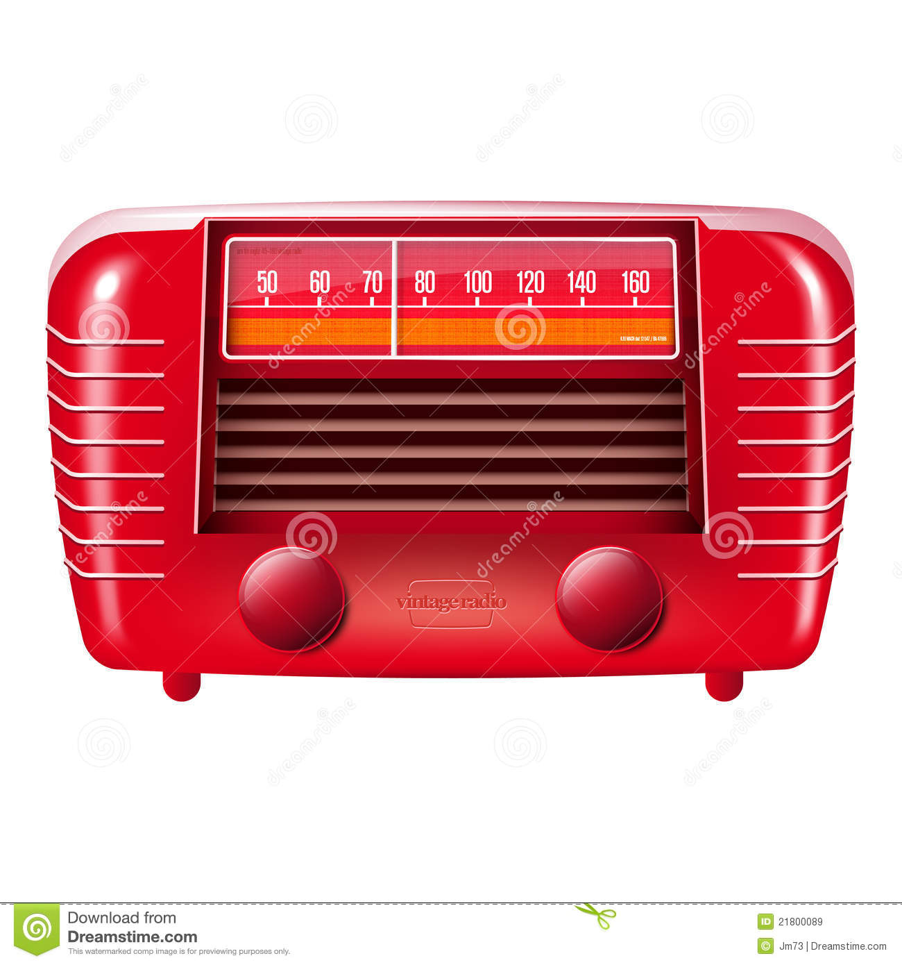 red vintage radio isolated on white royalty free stock images image 21800089. Black Bedroom Furniture Sets. Home Design Ideas