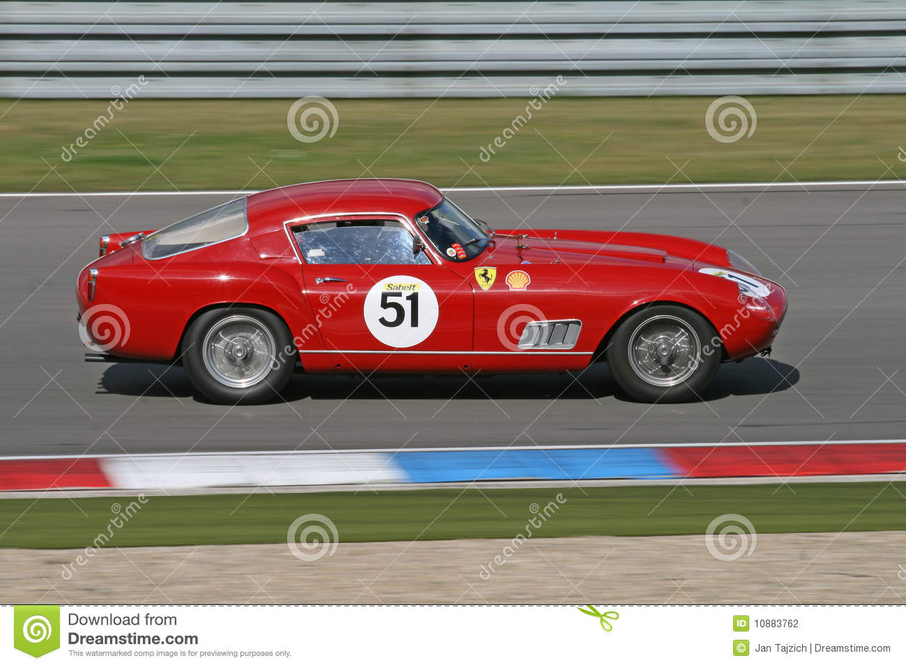Red Vintage Sports Car  Ferrari Editorial Photography  Image