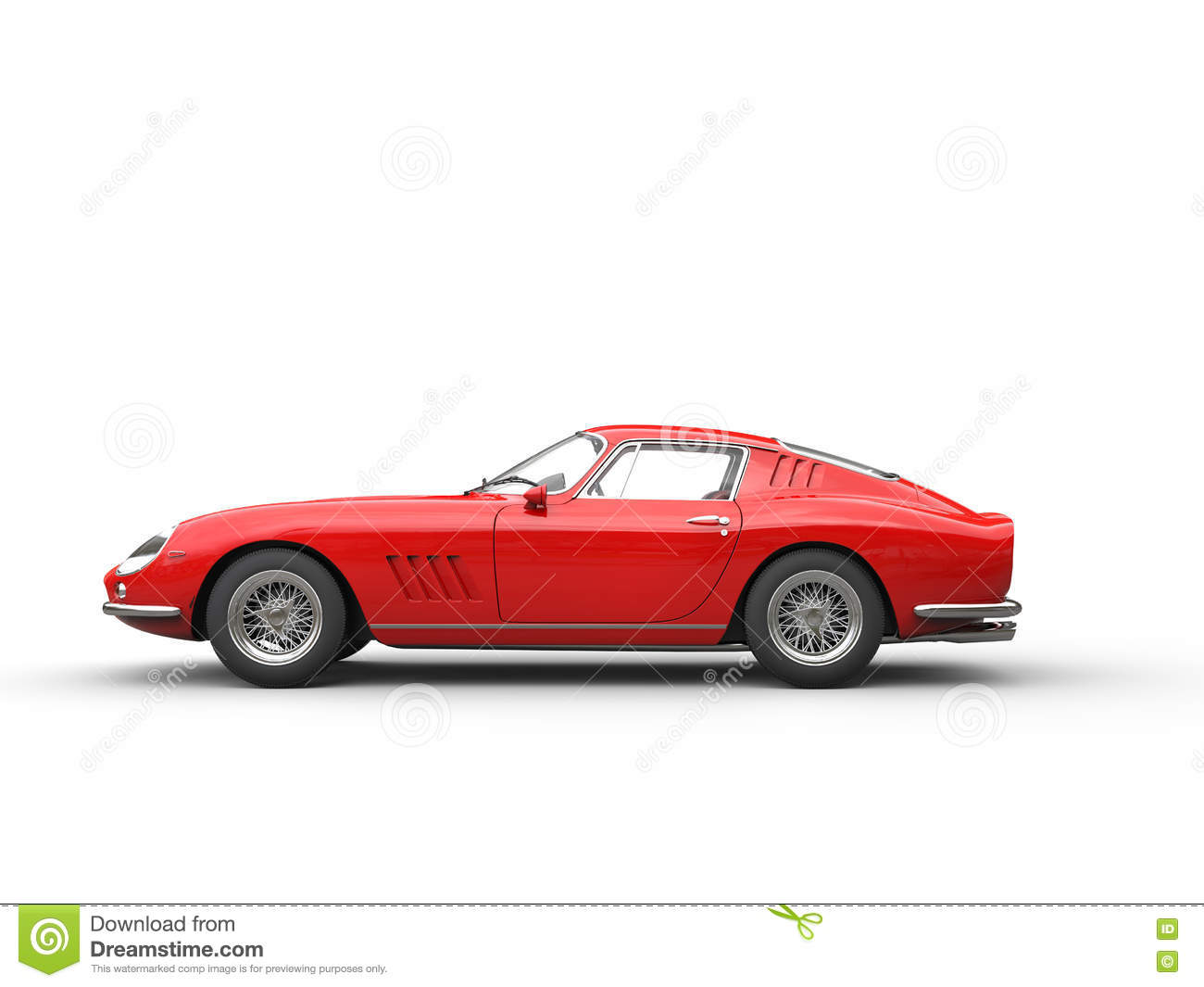 Red Vintage Sports Car...
