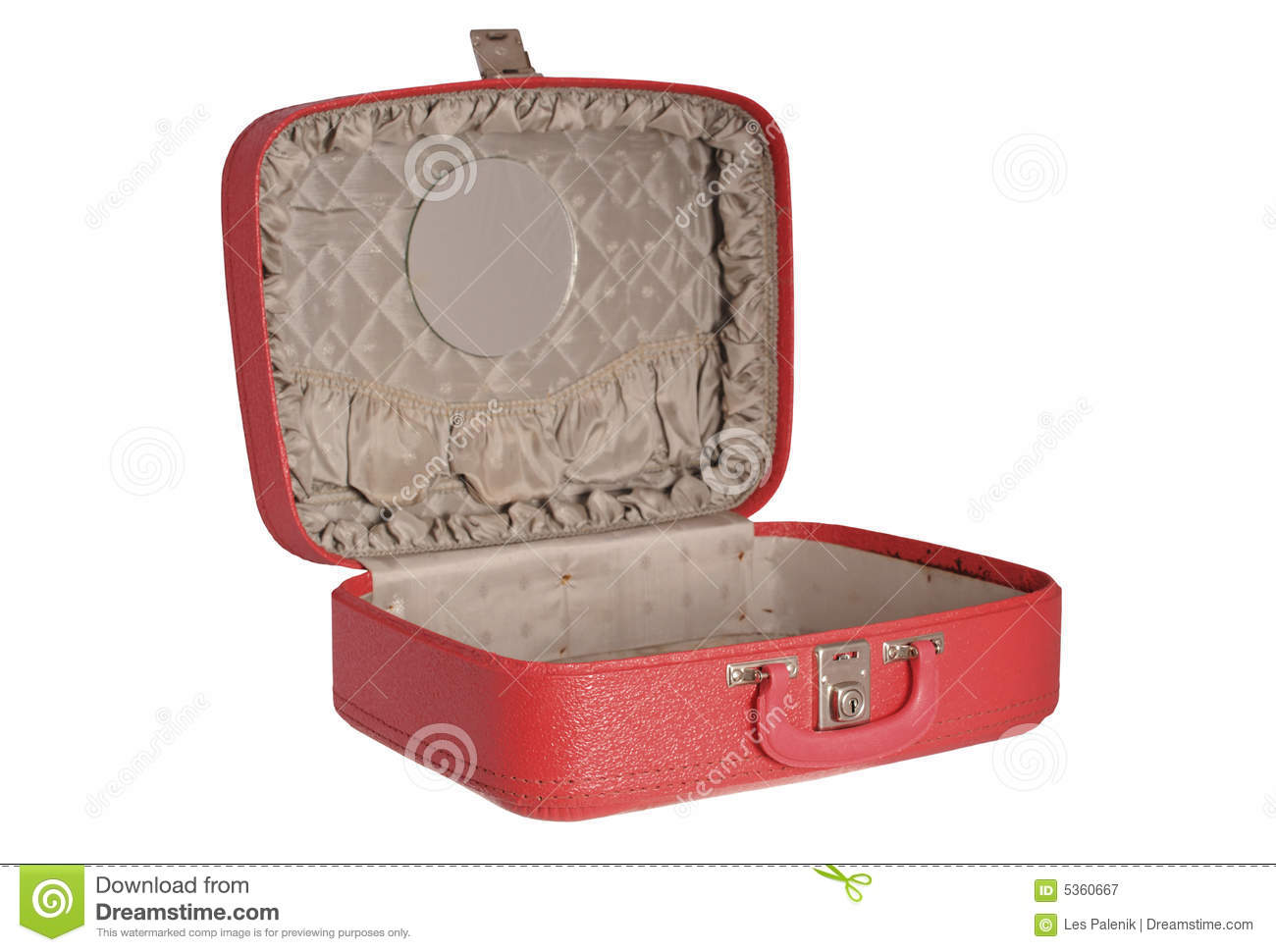 Red Vintage Suitcase Royalty Free Stock Photography - Image: 5360667