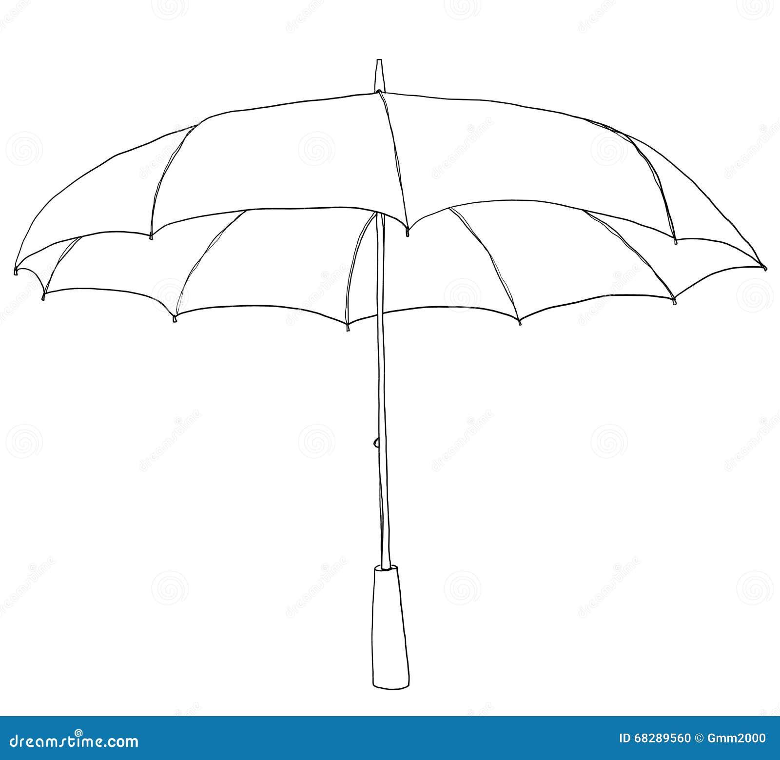 Line Art Umbrella : Monsoon cartoons illustrations vector stock images