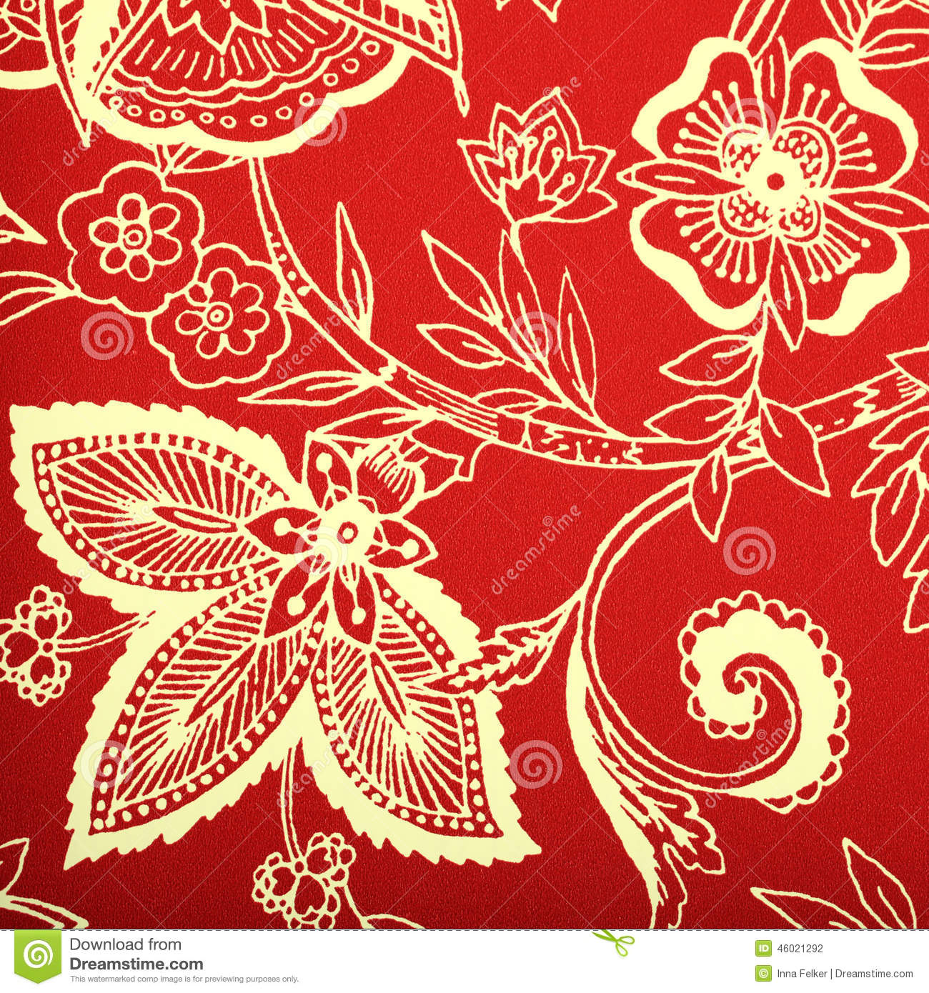 Victorian wallpaper pattern red - photo#20