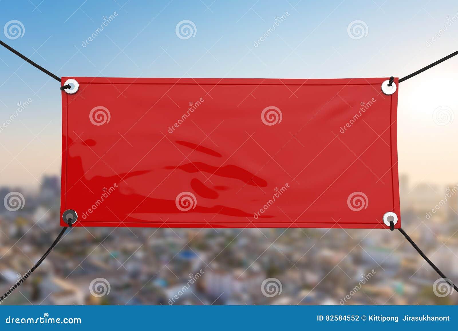Red Vinyl Banner Stock Photo Image - Blank vinyl banners