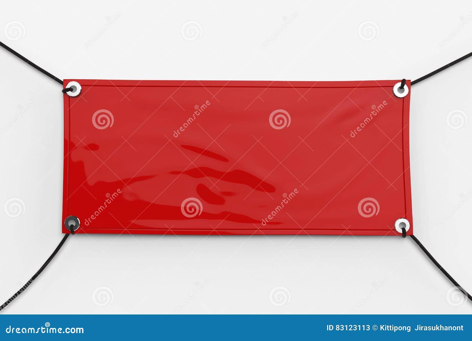 Red vinyl banner