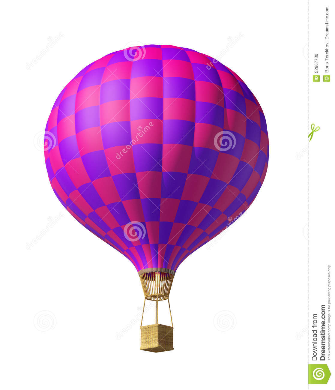 Red-violet Balloon Stock Illustration - Image: 52667730