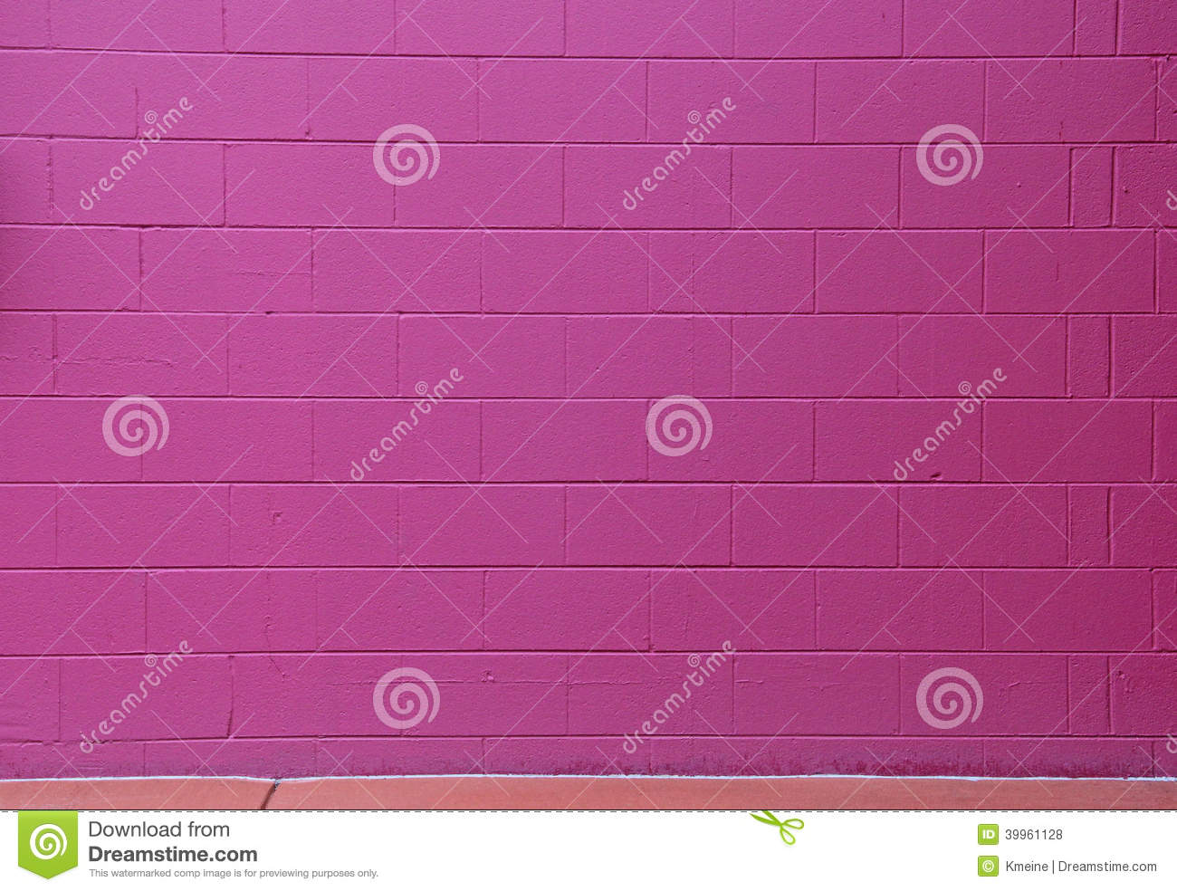 Red Violet Cinder Block Brick Wall Background Stock Photo ...