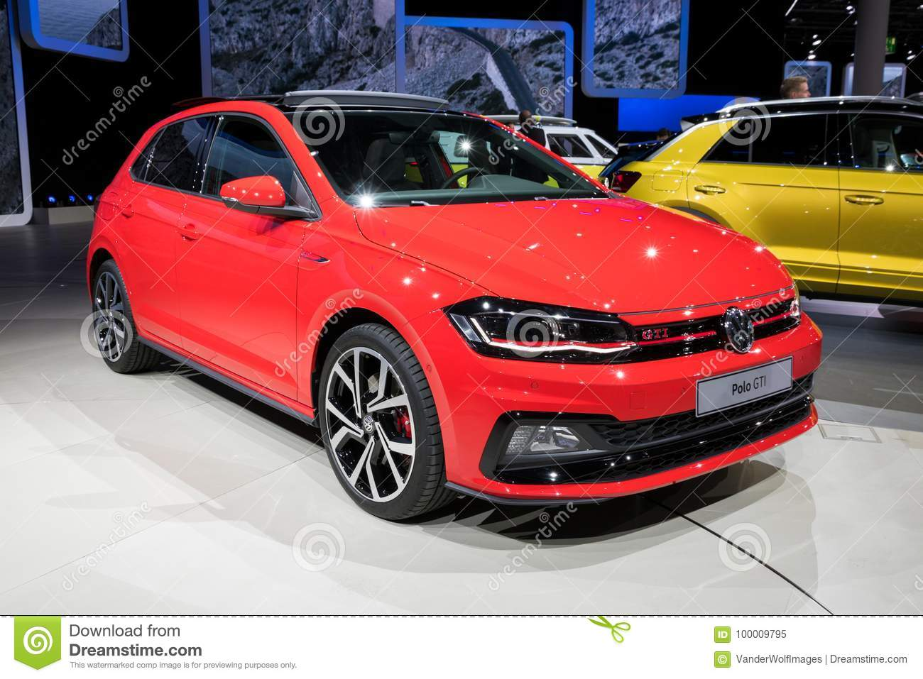Red 2018 Vw Polo Gti Car Editorial Image Image Of Automotive 100009795