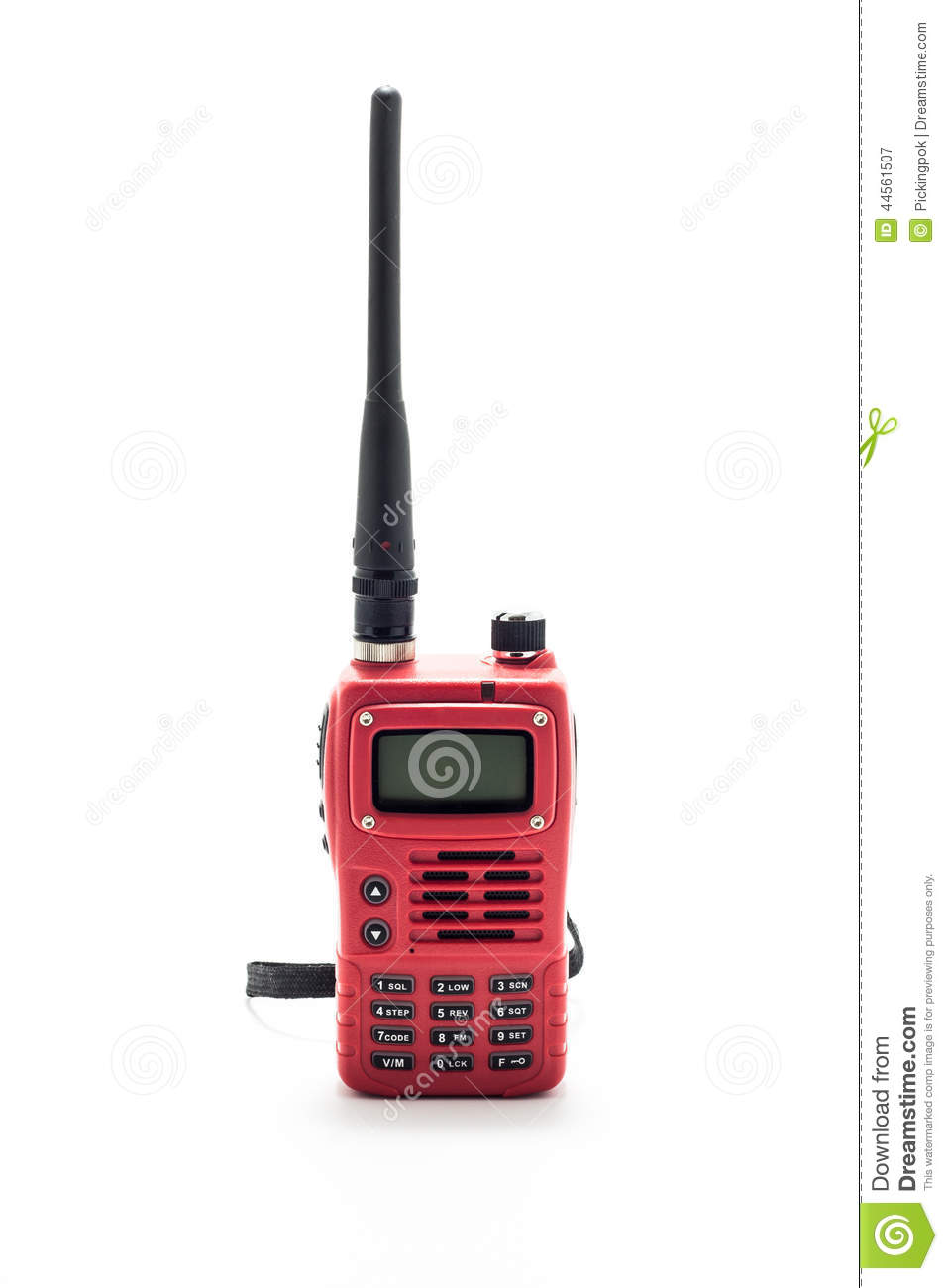 Red Walkie talkie stock image  Image of isolated, connection - 44561507
