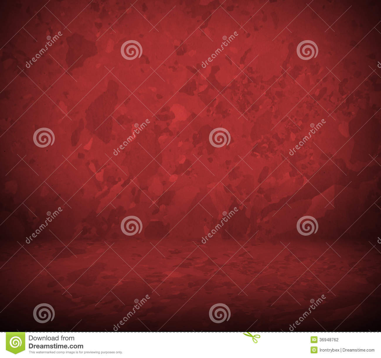 Red Wall And Floor Interior Stock Photography Image