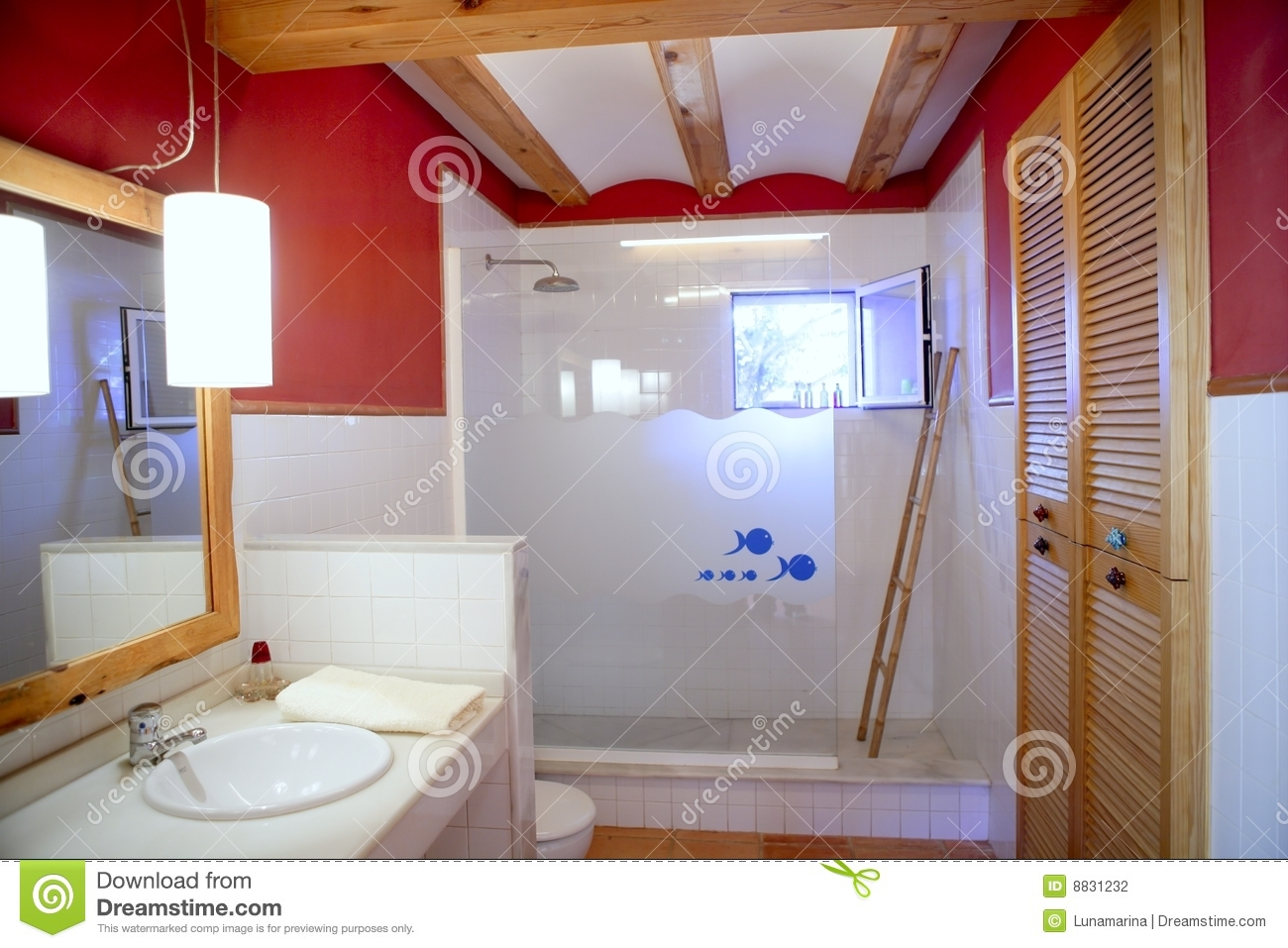 bathroom with no natural light wall bathroom light interior stock photo 22599