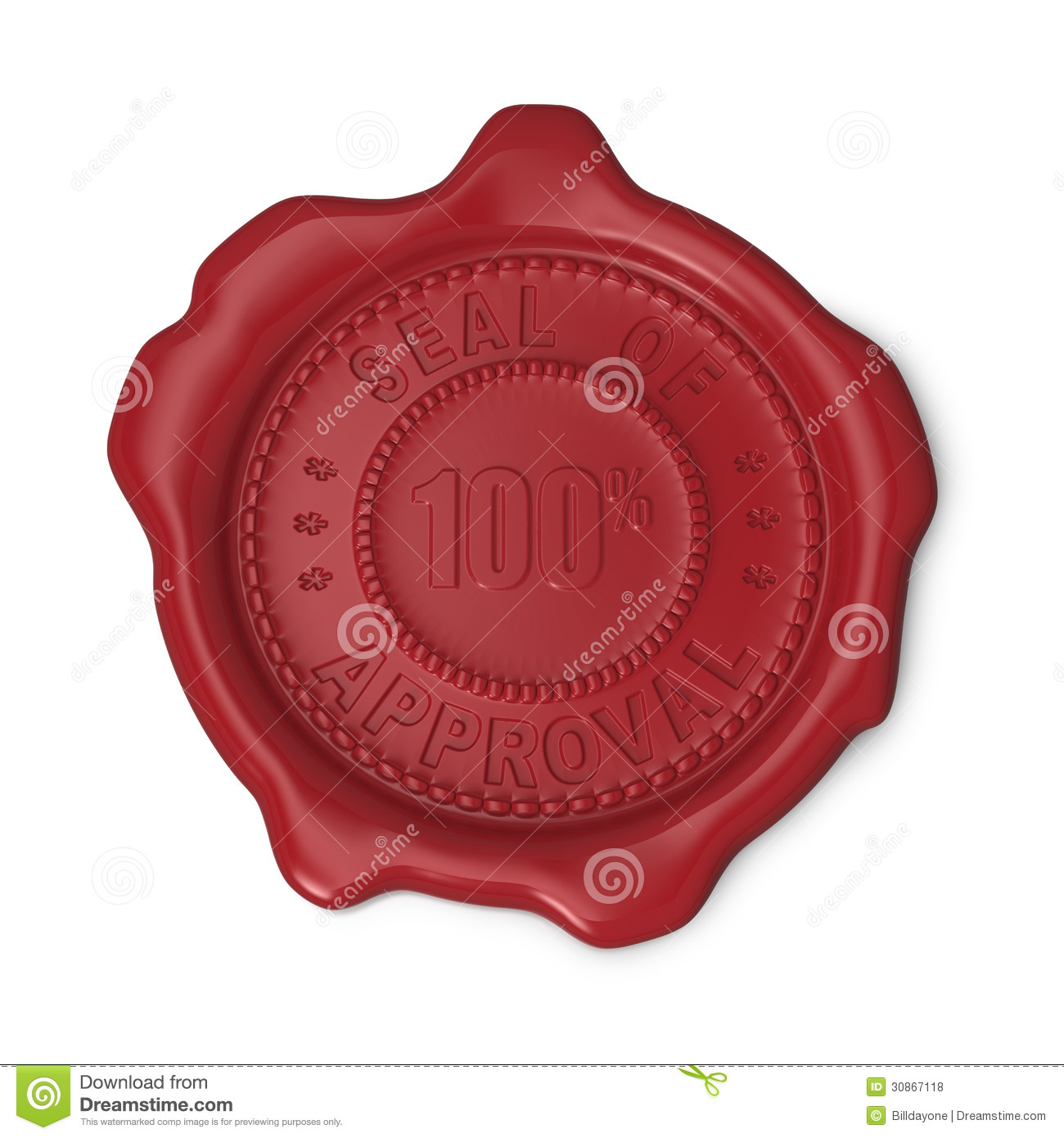 Red Wax Seal Of Approval Royalty Free Stock Photos Image