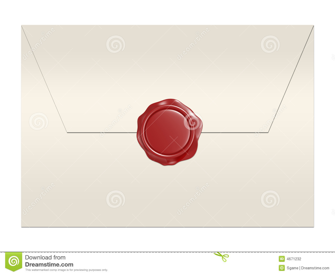 Red Wax Seal Envelope Stock Photography Image 4671232
