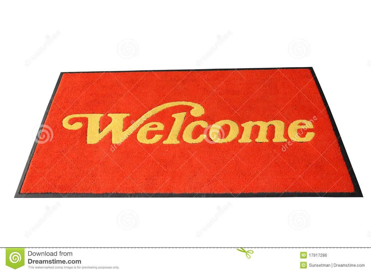 Red Welcome Mat Royalty Free Stock Image Image 17917286