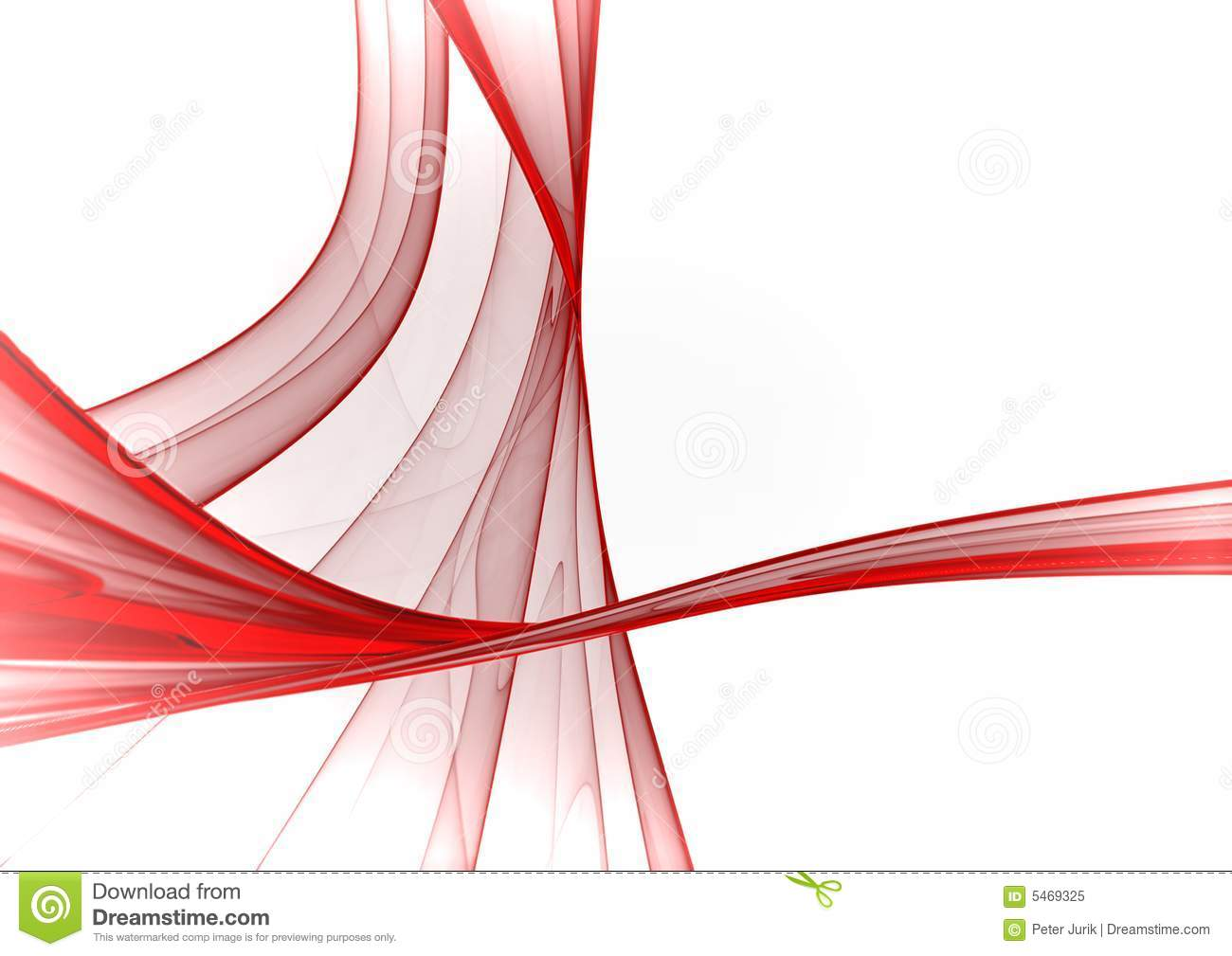 Red & White Abstract Background Stock Illustration