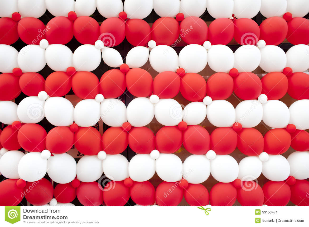 Red And White Balloon Wall Stock Illustration Illustration Of Decor