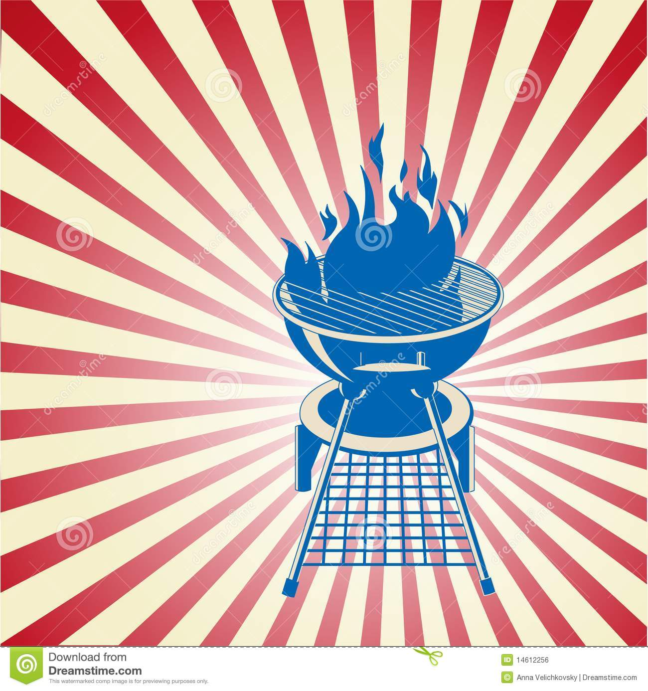 red white and bbq stock vector illustration of copy