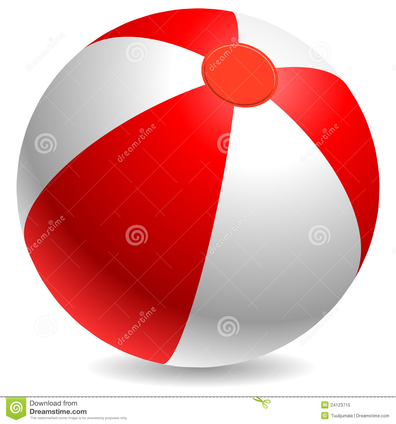 Red And White Beach Ball Royalty Free Stock Photo