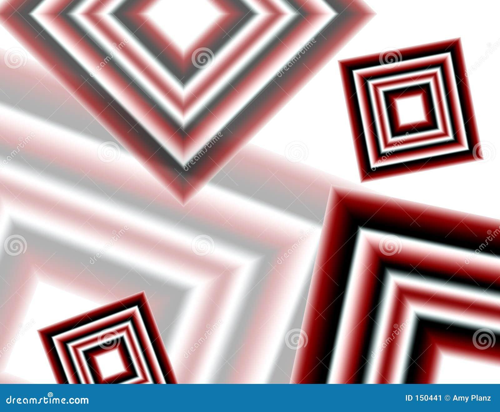 Red white and black diamonds