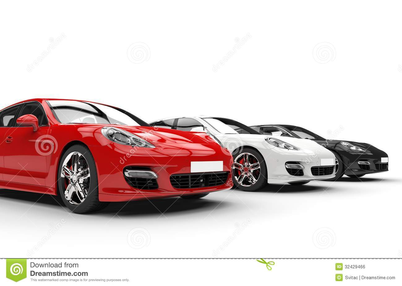 Royalty free stock photo download red white and black fast cars