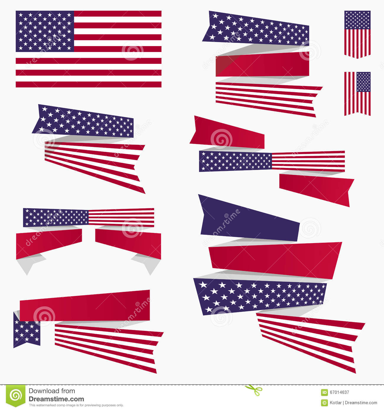 Patriotic Red White Blue Banners Vector Illustration ... - photo#32